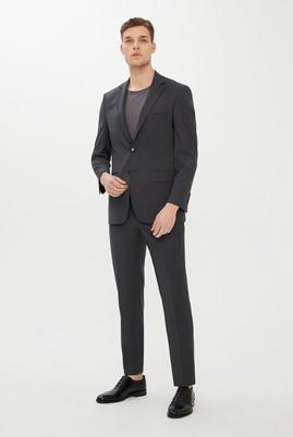 Erkek Giyim - FÜME GRİ 60 Beden Slim Fit BioParfume Takım Elbise