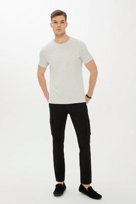 Erkek Giyim - SİYAH 52 Beden Slim Fit Kargo Pantolon