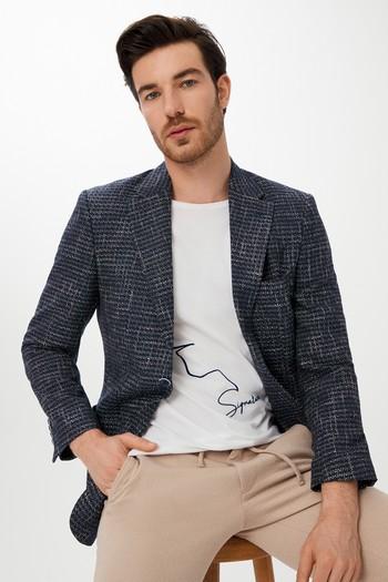 Erkek Giyim - Ekose Spor Ceket