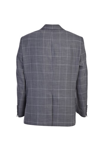 Erkek Giyim - Klasik Desenli Yünlü Ceket