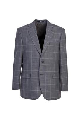 Erkek Giyim - ORTA FÜME 56 Beden Klasik Desenli Yünlü Ceket