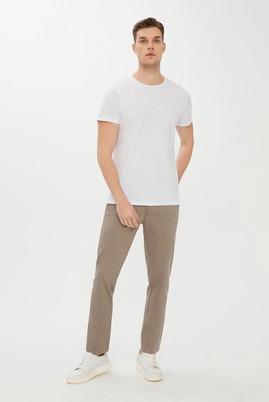 Erkek Giyim - AÇIK BEJ 48 Beden Slim Fit Desenli Spor Pantolon