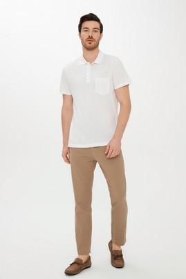Erkek Giyim - KOYU BEJ 48 Beden Slim Fit Desenli Spor Pantolon