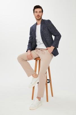 Erkek Giyim - KOYU LACİVERT 54 Beden Ekose Spor Ceket