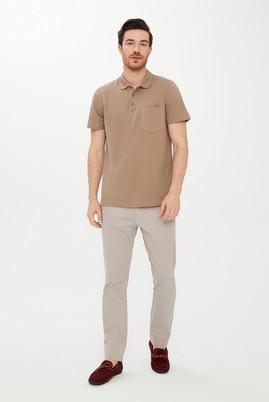 Erkek Giyim - ORTA BEJ 48 Beden Slim Fit Desenli Spor Pantolon