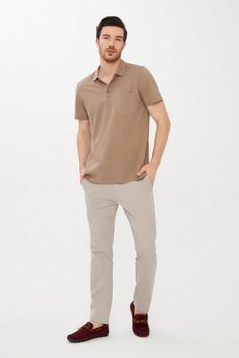 Erkek Giyim - KOYU VİZON M Beden Polo Yaka Regular Fit Tişört