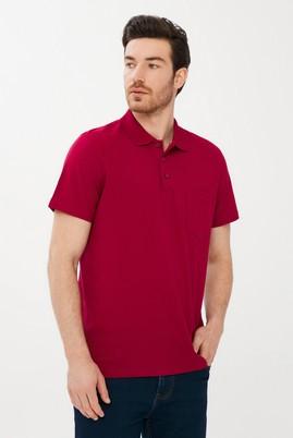 Erkek Giyim - SCARLET KIRMIZISI XXL Beden Polo Yaka Regular Fit Tişört