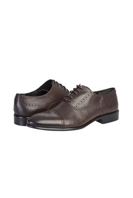 Erkek Giyim - KOYU KAHVE 43 Beden Klasik Bağcıklı Ayakkabı