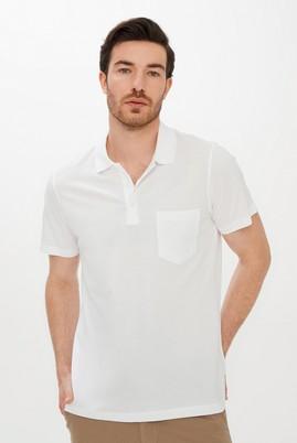 Erkek Giyim - BEYAZ 3X Beden Polo Yaka Regular Fit Tişört