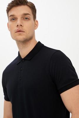 Erkek Giyim - SİYAH L Beden Polo Yaka Slim Fit Tişört