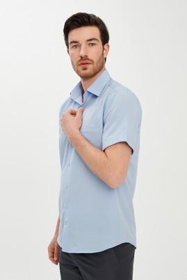 Erkek Giyim - AÇIK MAVİ M Beden Kısa Kol Klasik Gömlek