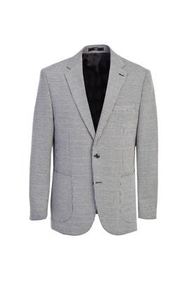 Erkek Giyim - SİYAH 46 Beden Klasik Kuşgözü Ceket
