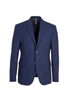 Erkek Giyim - MAVİ 52 Beden Slim Fit Desenli Ceket