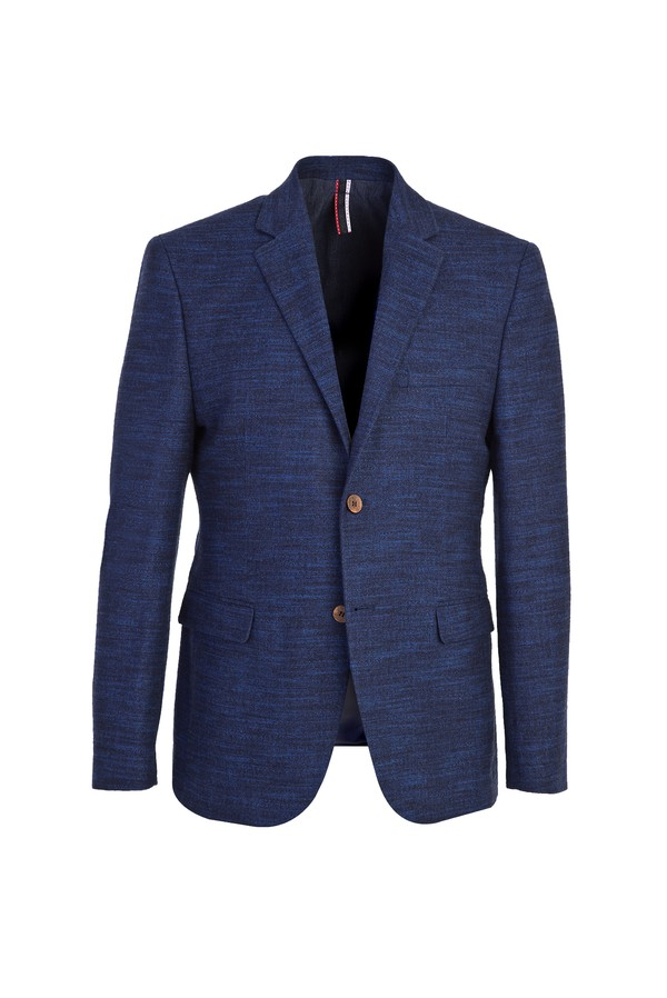 Slim Fit Klasik Ekose Ceket