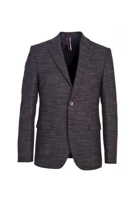 Erkek Giyim - ANTRASİT 46 Beden Slim Fit Klasik Ekose Ceket