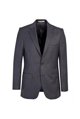 Erkek Giyim - FÜME GRİ 48 Beden Klasik Desenli Ceket