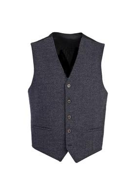 Erkek Giyim - MAVİ 48 Beden Klasik Yünlü Yelek