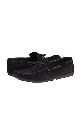 Erkek Giyim - SİYAH 41 Beden Süet Bağcıklı Loafer Ayakkabı