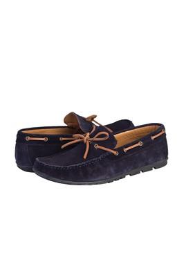 Erkek Giyim - KOYU LACİVERT 41 Beden Süet Bağcıklı Loafer Ayakkabı