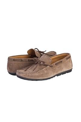 Erkek Giyim - KUM 41 Beden Süet Bağcıklı Loafer Ayakkabı