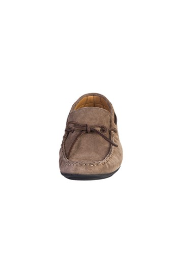 Erkek Giyim - Süet Bağcıklı Loafer Ayakkabı