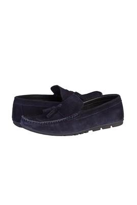Erkek Giyim - KOYU LACİVERT 40 Beden Süet Püsküllü Loafer Ayakkabı
