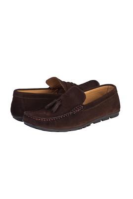 Erkek Giyim - ORTA KAHVE 40 Beden Süet Püsküllü Loafer Ayakkabı