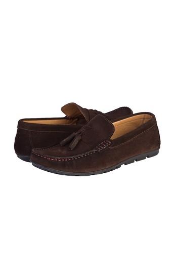 Erkek Giyim - Süet Püsküllü Loafer Ayakkabı
