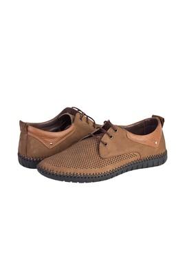 Erkek Giyim - ORTA KAHVE 40 Beden Casual Bağcıklı Nubuk Ayakkabı