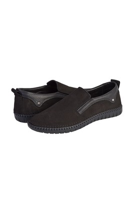 Erkek Giyim - SİYAH 40 Beden Casual Nubuk Ayakkabı