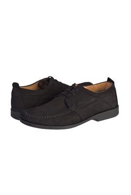 Erkek Giyim - SİYAH 40 Beden Casual Bağcıklı Nubuk Ayakkabı