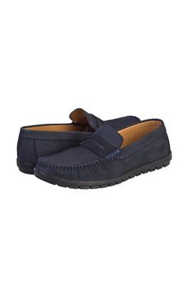 Erkek Giyim - KOYU LACİVERT 40 Beden Casual Nubuk Ayakkabı