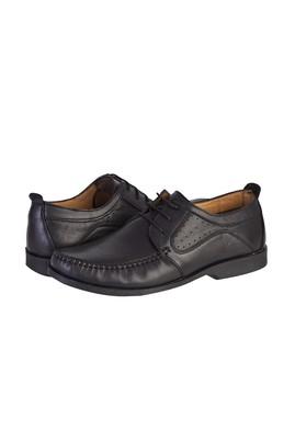 Erkek Giyim - SİYAH 40 Beden Casual Bağcıklı Deri Ayakkabı