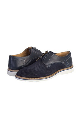 Erkek Giyim - AÇIK LACİVERT 41 Beden Casual Bağcıklı Ayakkabı