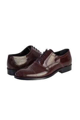 Erkek Giyim - KOYU BORDO 40 Beden Klasik Rugan Ayakkabı