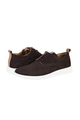 Erkek Giyim - KOYU KAHVE 40 Beden Casual Bağcıklı Deri Ayakkabı