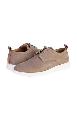 Erkek Giyim - ORTA BEJ 40 Beden Casual Bağcıklı Deri Ayakkabı