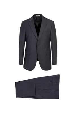 Erkek Giyim - KOYU ANTRASİT 54 Beden Klasik Yünlü Takım Elbise