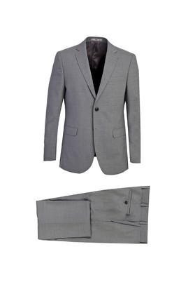Erkek Giyim - AÇIK GRİ 50 Beden Slim Fit Yünlü Takım Elbise