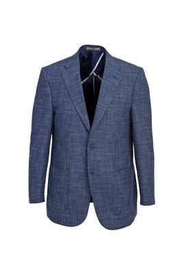 Erkek Giyim - AÇIK MAVİ 54 Beden Klasik Desenli Ceket