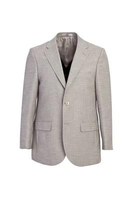 Erkek Giyim - AÇIK GRİ 50 Beden Slim Fit Desenli Ceket