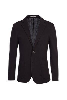 Erkek Giyim - SİYAH LACİVERT 52 Beden Slim Fit Spor Ceket