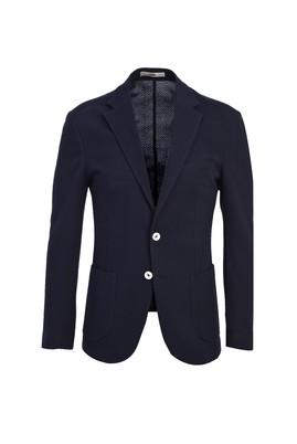 Erkek Giyim - SİYAH LACİVERT 44 Beden Klasik Kuşgözü Ceket