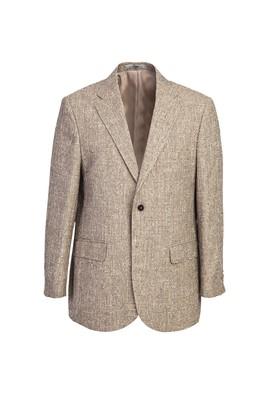 Erkek Giyim - AÇIK KAHVE 54 Beden Regular Fit Kuşgözü Ceket