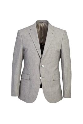 Erkek Giyim - AÇIK GRİ 48 Beden Klasik Desenli Ceket