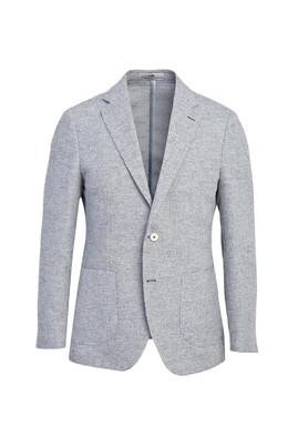 Erkek Giyim - AÇIK MAVİ 48 Beden Klasik Desenli Ceket