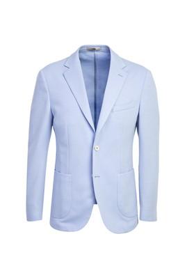 Erkek Giyim - UÇUK MAVİ 50 Beden Klasik Desenli Ceket