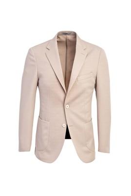Erkek Giyim - ORTA BEJ 48 Beden Slim Fit Desenli Ceket