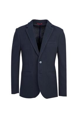 Erkek Giyim - KOYU LACİVERT 46 Beden Slim Fit Desenli Ceket