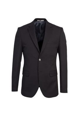 Erkek Giyim - SİYAH 50 Beden Slim Fit Blazer Ceket